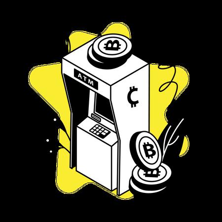 Crypto ATM machine Illustration