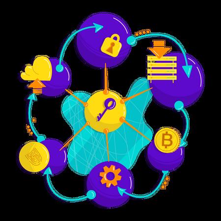 Crypto Blockchain Illustration