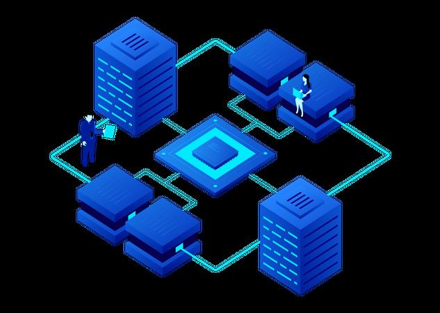 Crypto Data Processing Illustration