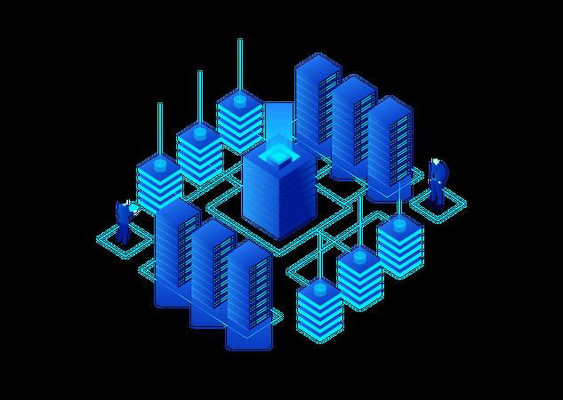 Crypto Data storage Illustration