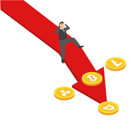 Crypto Investment Loss Illustration