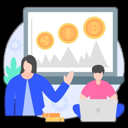 Crypto Marketplace Illustration