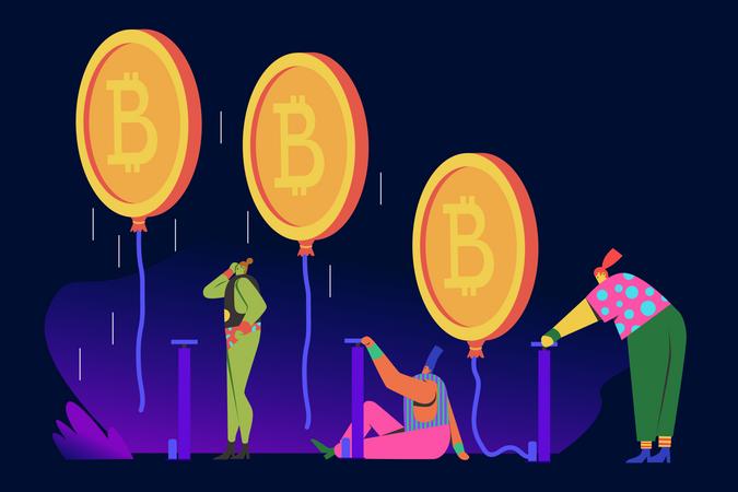 Crypto Pump Illustration