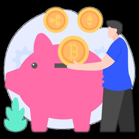 Crypto Savings Illustration