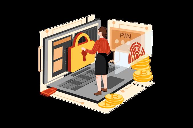 Crypto Security Illustration