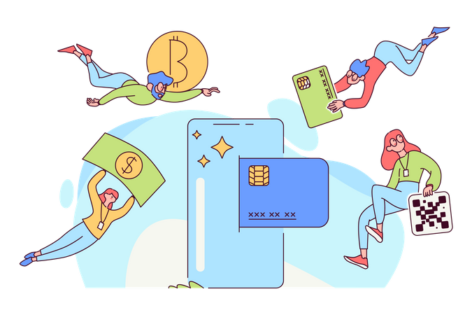 Crypto trading Illustration