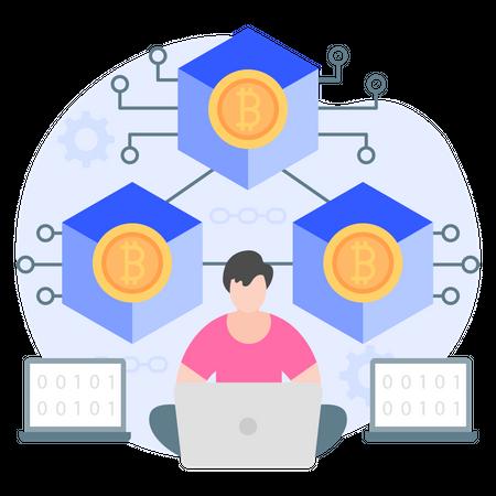 Cryptocurrency Blockchain Illustration