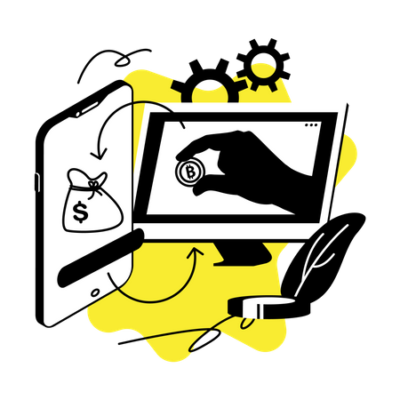 Cryptocurrency exchange Illustration