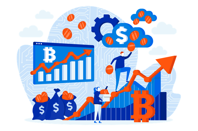 Cryptocurrency Investment Illustration
