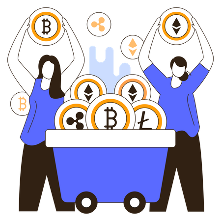 Cryptocurrency Miners Illustration