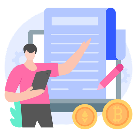 Cryptocurrency Terms And Conditions Illustration