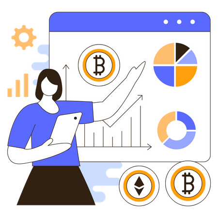 Cryptocurrency trading Illustration