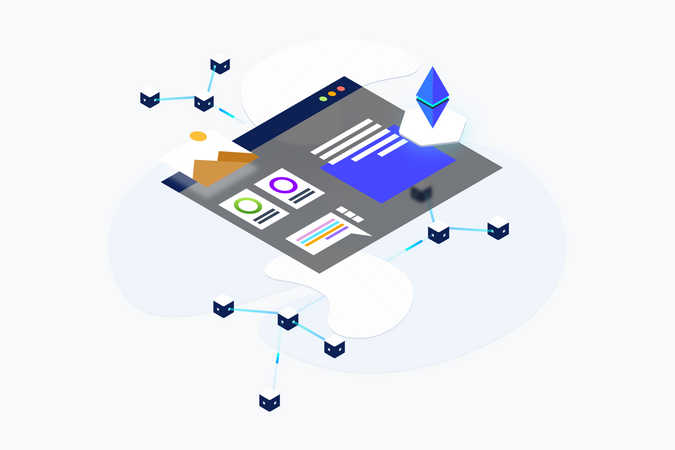 Cryptocurrency Trading website Illustration