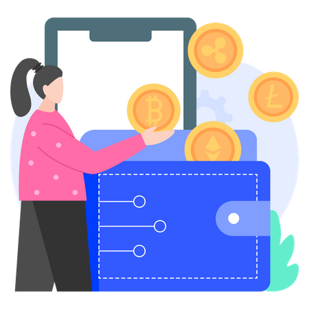 Cryptocurrency Wallet Illustration