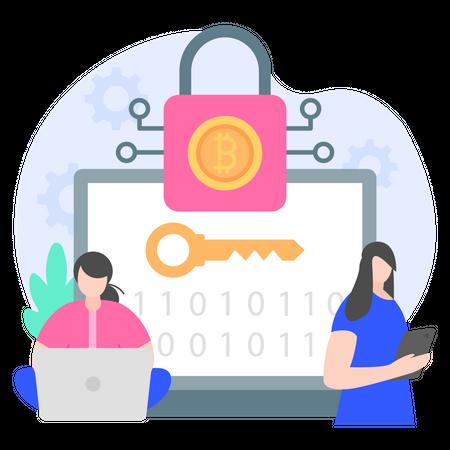 Crytocurrency Encryption Illustration