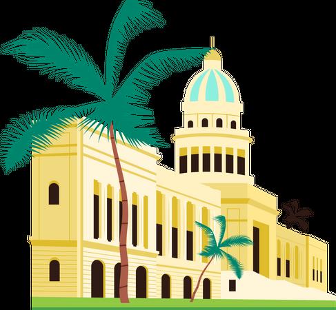 Cuba capitol building Illustration