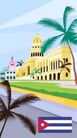Cuba national capitol Illustration