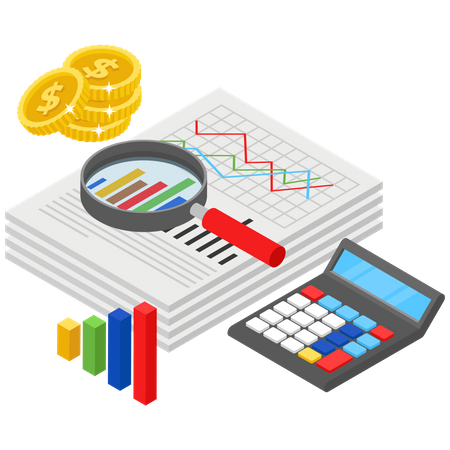 Currency Rate Analytics Illustration