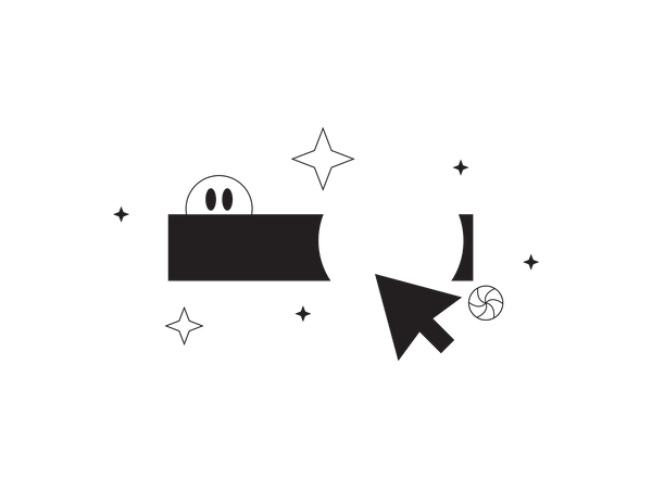 Cursor Processing hover effect Illustration