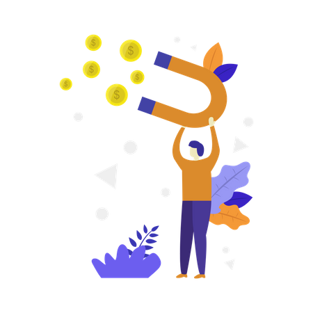 Customer Based Marketing Illustration
