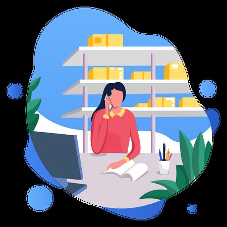 Customer Call Center Illustration
