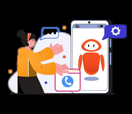 Customer Call support Illustration
