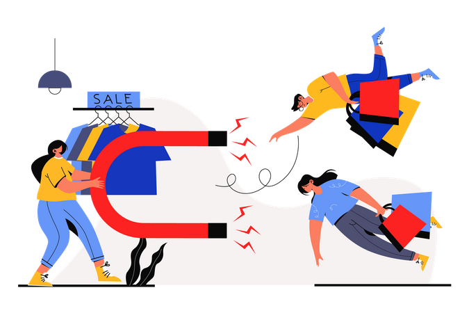 Customer Engagement Illustration