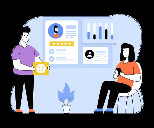 Customer Feedback analysis Illustration