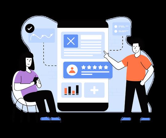 Customer Feedback Survey Illustration