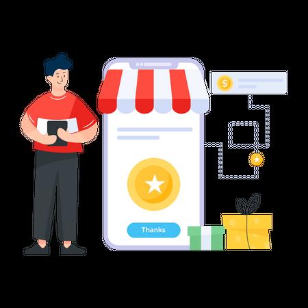 Customer Loyalty Promotion Illustration