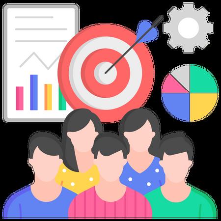 Customer oriented marketing Illustration