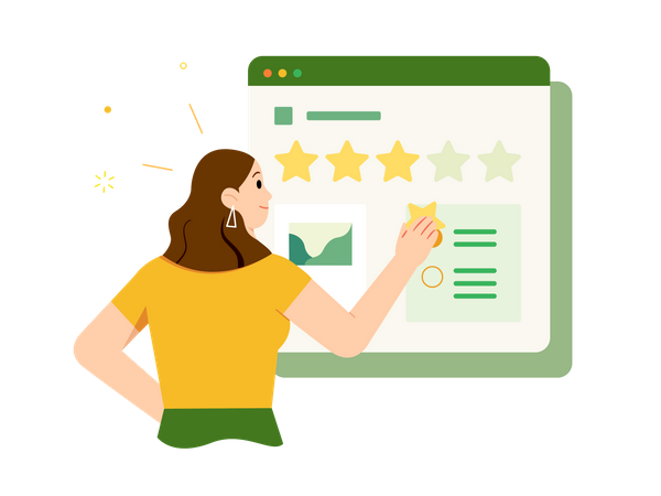 Customer Rating Illustration