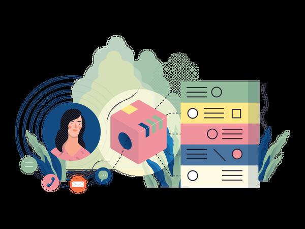 Customer Relationship Management Illustration
