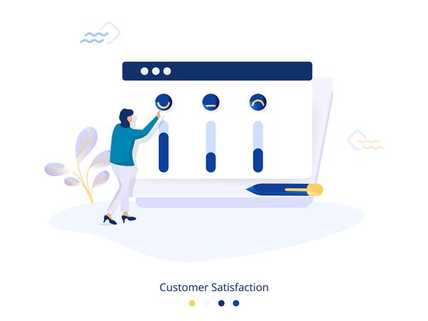 Customer Satisfaction Illustration Illustration