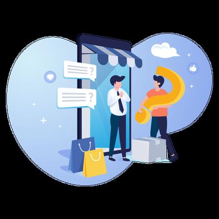Customer service support Illustration