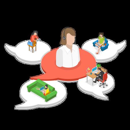 Customer support agent Illustration