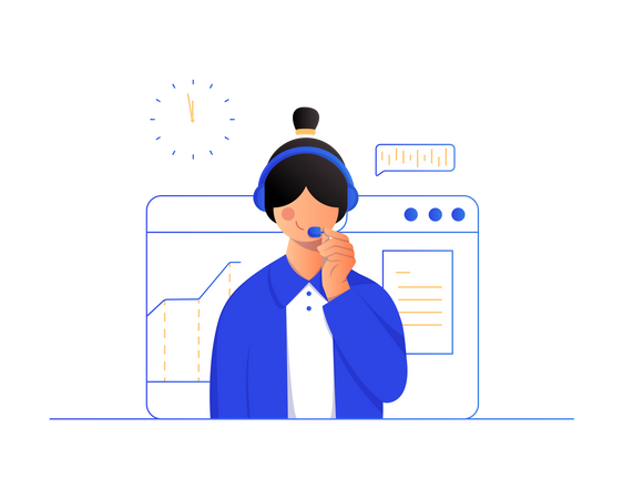 Customer support executive Illustration