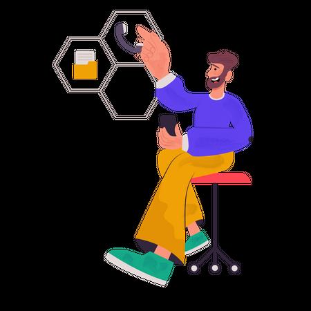 Customer Support Service Illustration