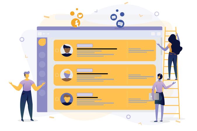 Customer Support Software Illustration