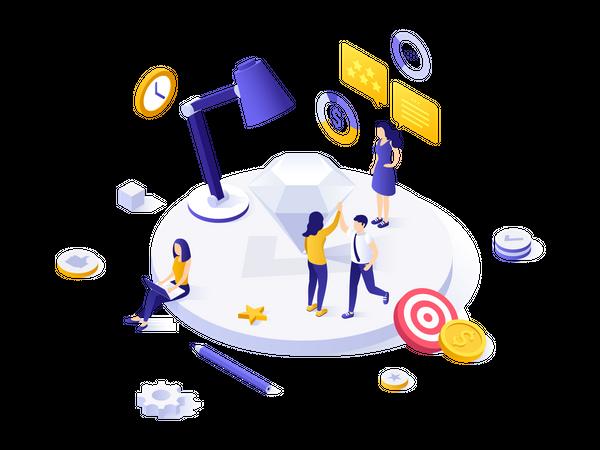 Customer Support Team Illustration