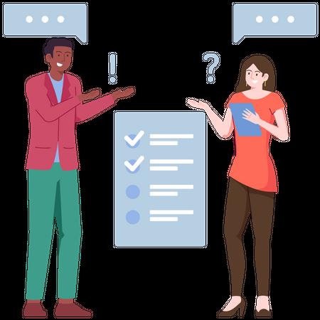 Customer Survey Illustration
