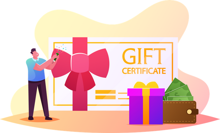 Customers Care and Loyalty Program Illustration