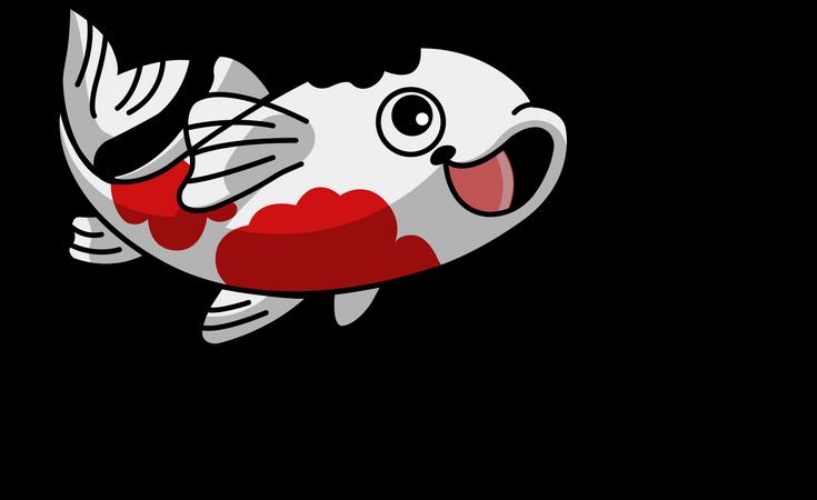 Cute Koi Fish Illustration