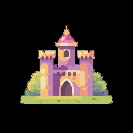 Cute little fairy tale castle Illustration