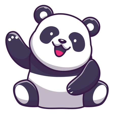 Cute panda doing hi-fi Illustration