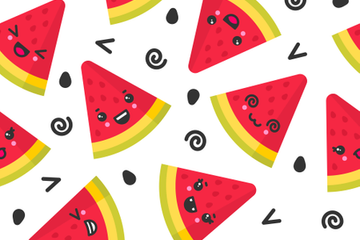 Fruit Seamless Patterns Stock Images