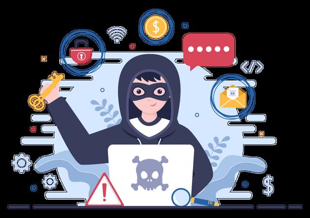 Cyber Attack Illustration