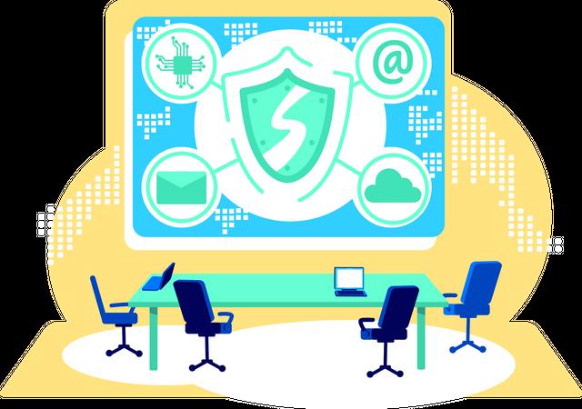 Cyber control Illustration