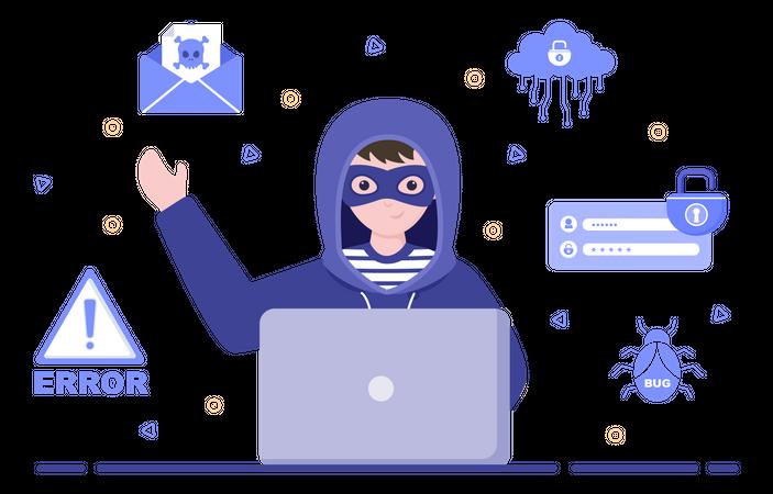 Cyber Phishing Illustration