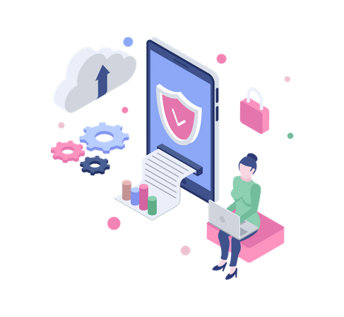 Cyber security Illustration